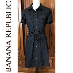 Banana Republic Black Button Down Dress
